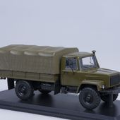 SSM1156 GAZ-33081 4×4 flatbed truck with tent * SSM
