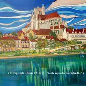 AUXERRE - ST ETIENNE - Alain FAURE Artiste Peintre