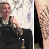 People Put Their Arms In A Hole, Letting This Tattoo Artist Ink Whatever He Wants
