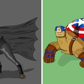 I Illustrated Wild Animals As Superheroes