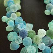Sea-Inspired Jewelry Made From Translucent Fabric By Japanese Artist