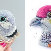 Incredibly Detailed Embroidered Bird Brooches By Paulina Bartnik