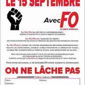 Le 15 septembre avec Force Ouvrière | Force Ouvrière
