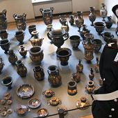 Record €50m hoard of looted Italian antiquities unveiled by police