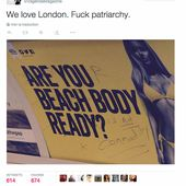 """ Are you beach body ready "", une affiche sexiste qui fait polémique à Londres"