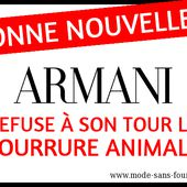 Armani refuse à son tour la fourrure animale ! | Mode sans fourrure