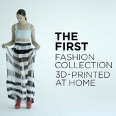 A 5-piece fashion collection entirely 3D-printed using home printers