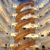 This brand new shopping mall in Shanghai has an escalator you've never seen before