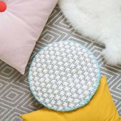 Modern DIY Oversized Cross-Stitched Cushion | Sugar & Cloth