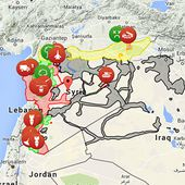 Map of Syrian Civil war/ Global conflict in Syria - syria.liveuamap.com