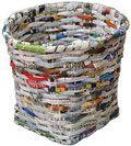 Comment tresser un panier avec du papier journal, vannerie de papier, recup