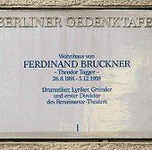Ferdinand Bruckner - Wikipedia