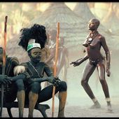 Leni Riefenstahl and Nuba Tribe