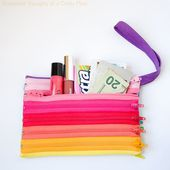 Rainbow Zipper Pouch Tutorial
