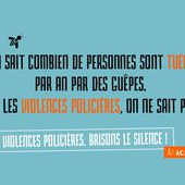 "Campagne ""Violences policières : brisons le silence"" 