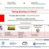 Doing Business in China on 26th June 2014 in Lyon