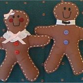 Gingerbread Doll Pattern - Gingerbread Man Doll Pattern to Sew