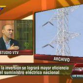 """Jesse Chacón: """"Disminuyen en 40% fallas en el sistema eléctrico"""""""