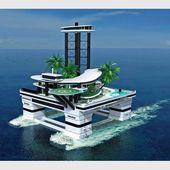 Une île flottante pour clients milliardaires