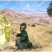 Bible Cartoons: Acts 08 - Philip and the Ethiopian eunuch - Scene 01 - Road
