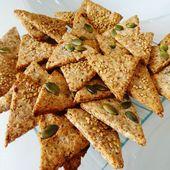 Recette Paléo de biscuits apéritifs : les crackers