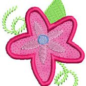 Bunnycup Embroidery - Funky Flowers Applique