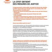 CFDT - Tract - Réforme des retraites : la CFDT obtient des mesures de justice