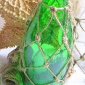 How to sew a fish net...Inadvertent Knotted jute Demijohn knockoff