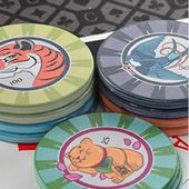 CUSTOMPOK : personnalisation de jeton de poker en céramique - CUSTOMPOK.FR