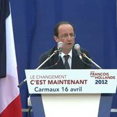 Meeting de François Hollande à Carmaux
