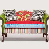Patchwork furniture- upholstery fabrics