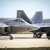 F-22 Raptors Fly Into Lithuania As Part of European Tour