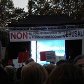 """"""" Pour Jérusalem, je ne me tairai pas """" : succès de la manifestation à Paris contre l'UNESCO"""