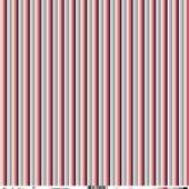 FDSF00509 : feuille un air romantique coeurs colorés rayures fee du scrap