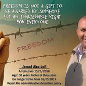 Urgence : solidarité pour Jamal Abu Leil et les prisonniers palestiniens !