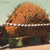 Coutumes et traditions. Jeux de la Tarasque à Tarascon. Procession, cortège, scènes, décor du Moyen Age et dragon