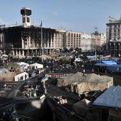 Ukraine : la place Maïdan en fête