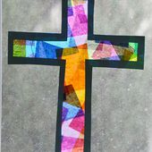 Stained Glass Cross - Easter Craft