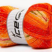Design Glitz Yellow Orange Cream, Fils métalliques
