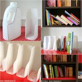 How to DIY Book Organizer from Recycled Plastic Bottles -...