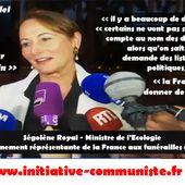 Ségolène Royal Cuba et les hurlements des chiens de garde de la dictature du Capital - INITIATIVE COMMUNISTE
