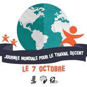 7 octobre : Journée mondiale pour un travail décent - Jeunesse Ouvrière Chrétienne