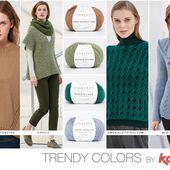 Couleurs tendances de la saison Automne Hiver 17/18 avec nos nouvelles laines et la revue Katia Concept