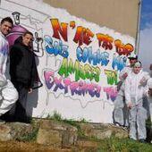 Les Francas ont fait faire un graffiti à des adolescents