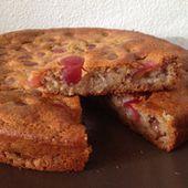Gâteau sans oeuf aux cerises