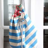 Rope Beach Bag - The Sewing Rabbit