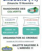 Rando des Colverts, CROSSAC (Sortie VTT du 15/11/2015 / Ref. : 34915)