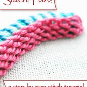 Stitch Play: Casalguidi Stitch - or Really Raised Stem Stitch!