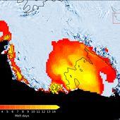 Il a plu en Antarctique, et ce n'est pas bon signe