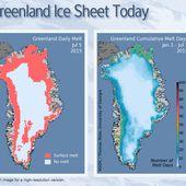 Le Groenland est frappé par une vague de chaleur qui n'est pas sans nous rappeler l'événement majeur de 2012, par Philippe Soubeyrand